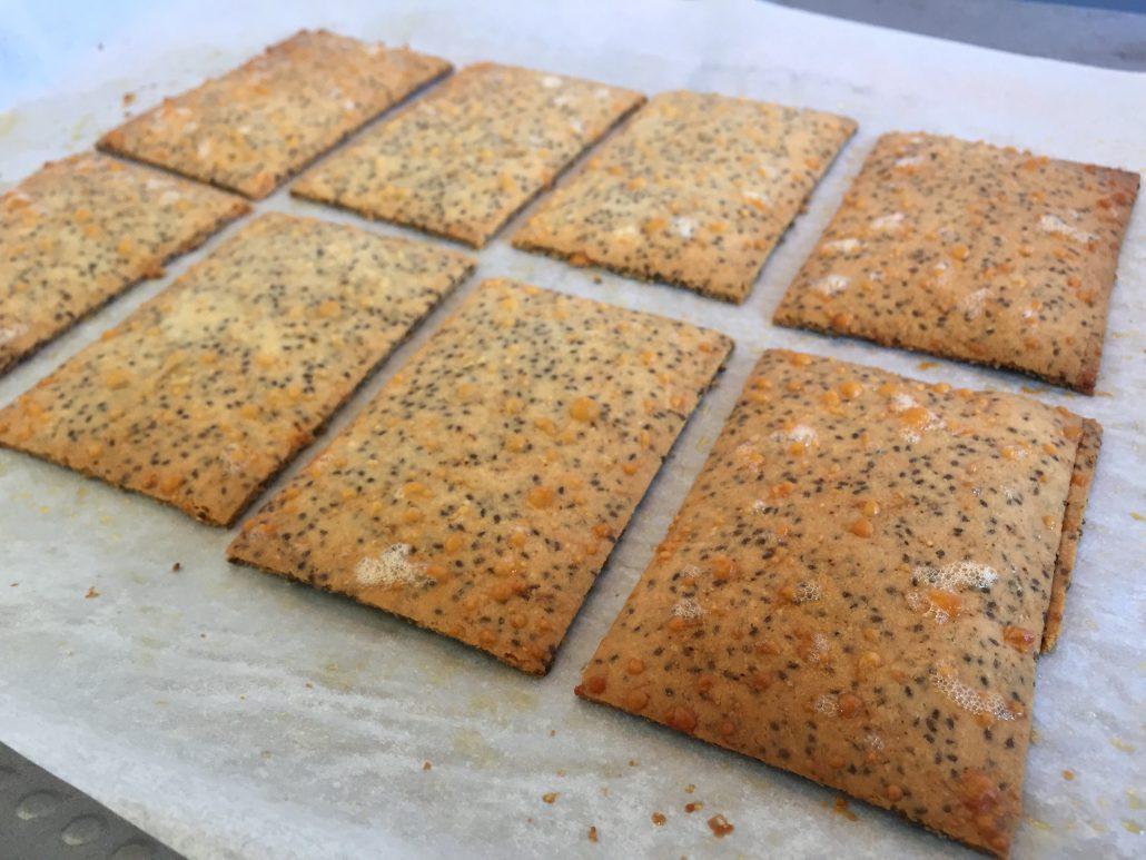 Parmesan Chia Crackers