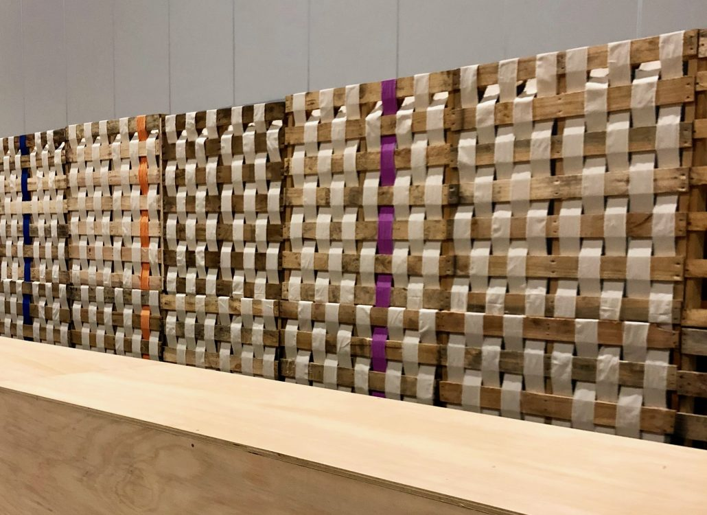 Pallet calico wall